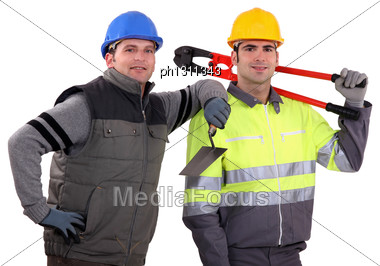 Two Handyman Stock Photo