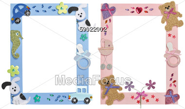 30236bdd73 Royalty-Free Stock Photo  Two picture frames for children s photos