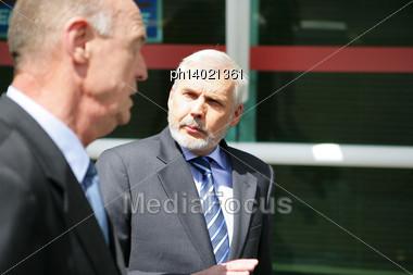 Two Senior Businessmen Stock Photo