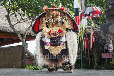 UBUD, BALI, INDONESIA - APRIL 01: Barong Dance Show, The Traditional Balinese Performance On April 01, 2011 In Ubud, Bali, Indonesia Stock Photo