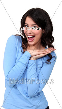 Unexpected Good News Stock Photo