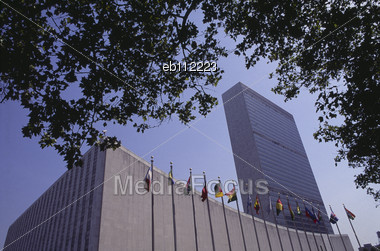 United Nations Headquarters In New York Stock Photo
