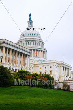 United States Capitol Building In Washington, DC Early In The Morning Stock Photo