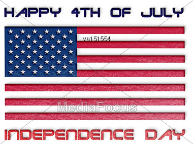 Usa Independence Day Happy 4th Of July Illustration Stock Photo