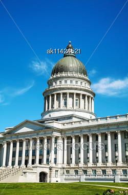 Utah State Capitol Building In Salt Lake City On A Sunny Day Stock Photo