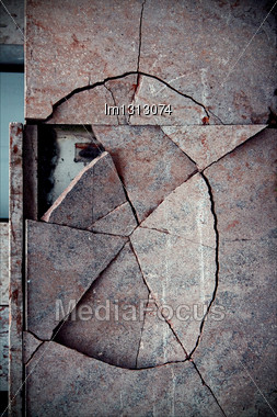 Vaduz Liechtenstain Abstract Broken Wall Stock Photo