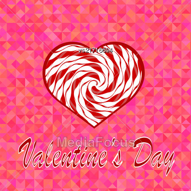 Valentines Day Romantic Banner On Pink Background Stock Photo