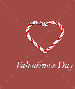Valentines Day Romantic Banner On Red Background Stock Photo