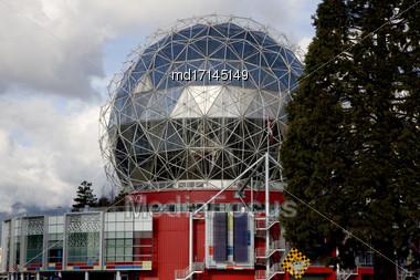 Vancouver Skyline Canada Dwntown Science World Stock Photo