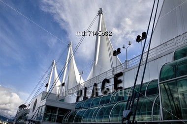 Vancouver Skyline Canada Dwntown West End City Canada Place Stock Photo