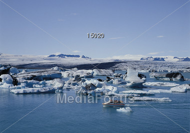 Vatnajoekull Glacier, Iceland Stock Photo