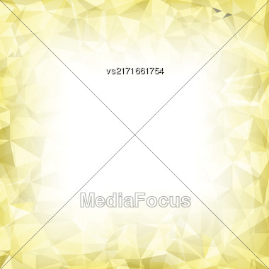 Vector Abstract Polygonal Background. Abstract Crystal Triangle Pattern Stock Photo