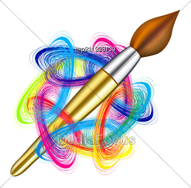 Royalty-Free Stock Photo: Artist's Palette And Brush