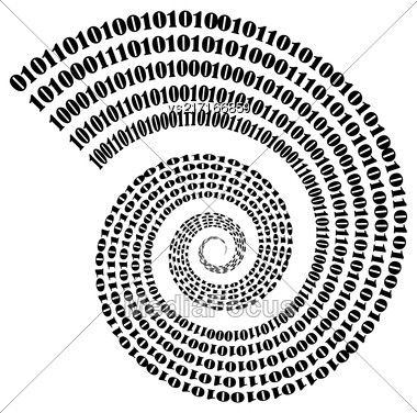 Vector Binary Code Background. Numbers Concept. Algorithm, Data Code, Decryption And Encoding Stock Photo