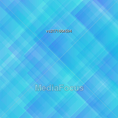 Vector Blue Square Background. Abstract Blue Square Pattern Stock Photo