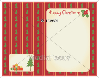 Christmas Cards For Winter Holidays For Text.Vintage Backgrounds Stock Photo