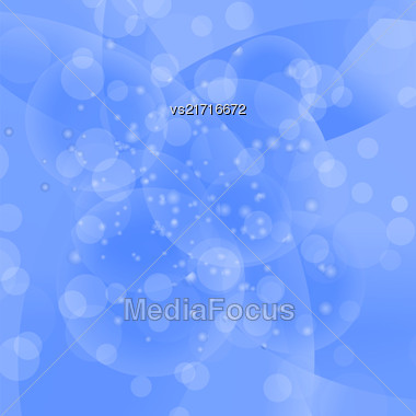 Vector Circle Blue Light Background. Round Blue Wave Pattern Stock Photo