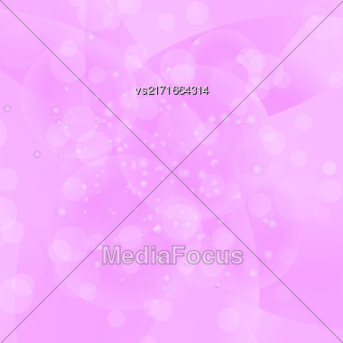 Vector Circle Pink Light Background. Round Pink Wave Pattern Stock Photo