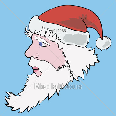 Colorful Illustration With Santa Claus For Your Design Stock Photo