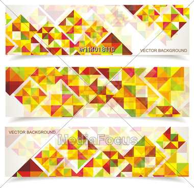 Vector Colorful Mosaic Pattern Design. Abstract, Geometric Backgrounds Stock Photo
