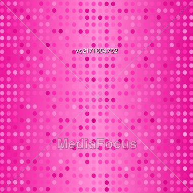 Vector Halftone Pattern. Set Of Halftone Dots. Dots On Pink Background. Halftone Texture. Halftone Dots. Halftone Effect Stock Photo