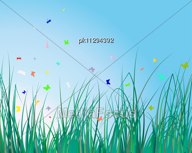 Grass Background For Design Usage Stock Photo
