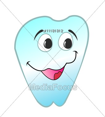 Happy Smiling Tooth Is Stock Photo