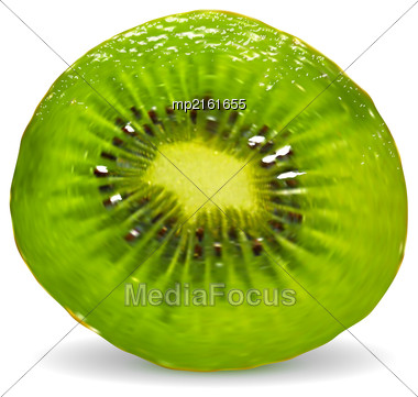 Vector Illustration Of A Kiwi On A White Background Stock Photo