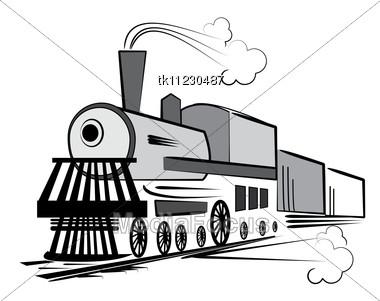 Old Steam Engine.Locomotive Stock Photo