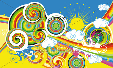 Stock Photo Rainbow Colored Background For Design Image