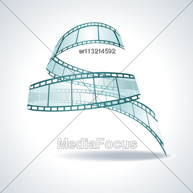Vector Realistic 3d Film Reel Stock Photo