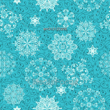 Seamless Christmas Retro Winter Pattern, Clipping Mask, Elements Can Be Used Separately, Seamless Patterns In Swatch Menu Stock Photo
