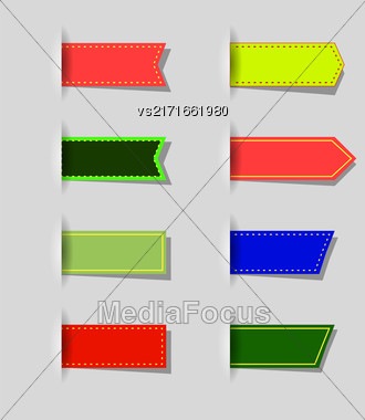 Vector Set Of Colored Icons Isolated On Grey Background Stock Photo