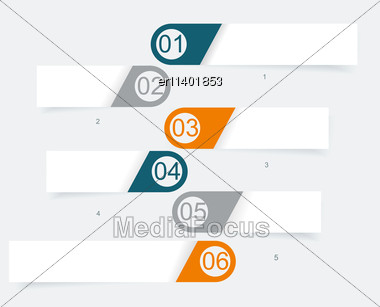 Vector Steps Lines, Progress Banners With Colorful Tags Stock Photo