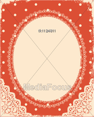 Vintage Background With Vintage Frame And Decoration For Design Stock ...