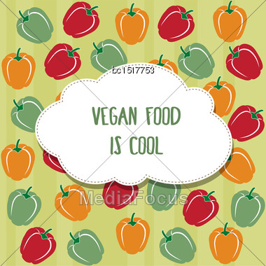 Vegan Background In Vector Format Stock Photo