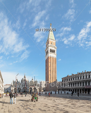 "Venice - DECEMBER 11: Piazza San Marco On December 11, 2012 In Venice. It's The Principal Public Square Of Venice, Italy, Where It Is Generally Known Just As ""the Piazza"". Stock Photo"