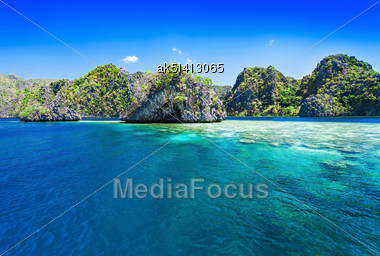 Very Beautiful Islands In The Sea, Philippines Stock Photo