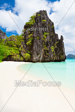 Very Beautyful Lagoon In The Islands, Philippines Stock Photo