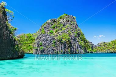 Very Beautyful Lagoon In The Islands, Philippines Stock Photo