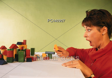 Very Surprised Woman Stock Photo