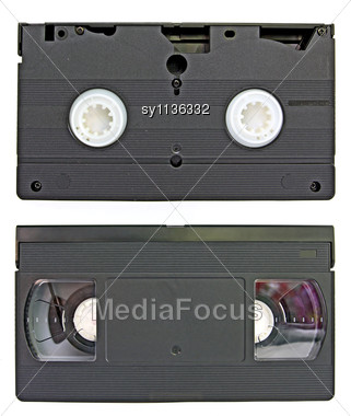 VHS Video Cassettes Stock Photo