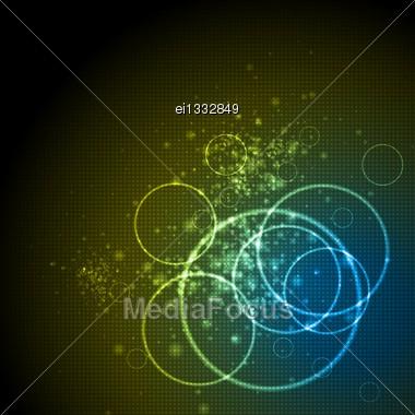 Vibrant Abstract Tech Background. Vector Design Eps 10 Stock Photo