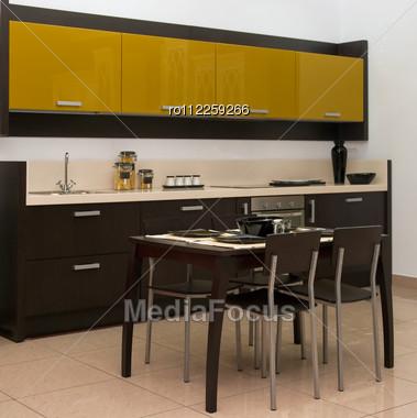 View Of A Modern Kitchen Interior Stock Photo