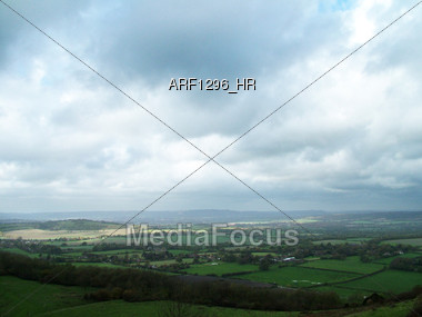 VIew Of The Valley Stock Photo