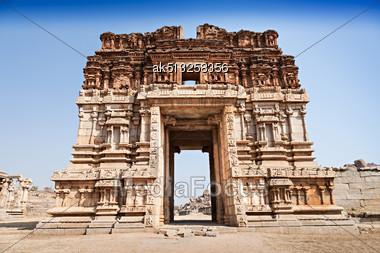 Vijayanagara Hindu Temple And Ruins, Hampi, India Stock Photo