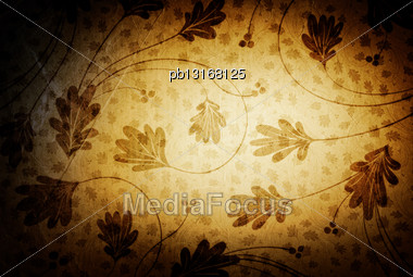 Vintage Background With Floral Patterns Stock Photo
