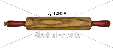 Vintage Bakers Rolling Pin Stock Photo