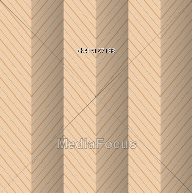 Vintage Colored Simple Seamless Pattern. Background With Paper Fold And 3d Realistic Shadow.Retro Fold Yellowish Striped Zigzag Stock Photo
