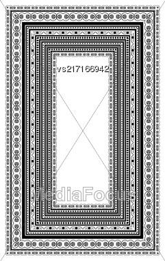 Vintage Decorative Frame Isolated On White Background Stock Photo